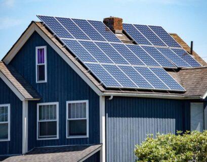 casa con sistema fotovoltaico