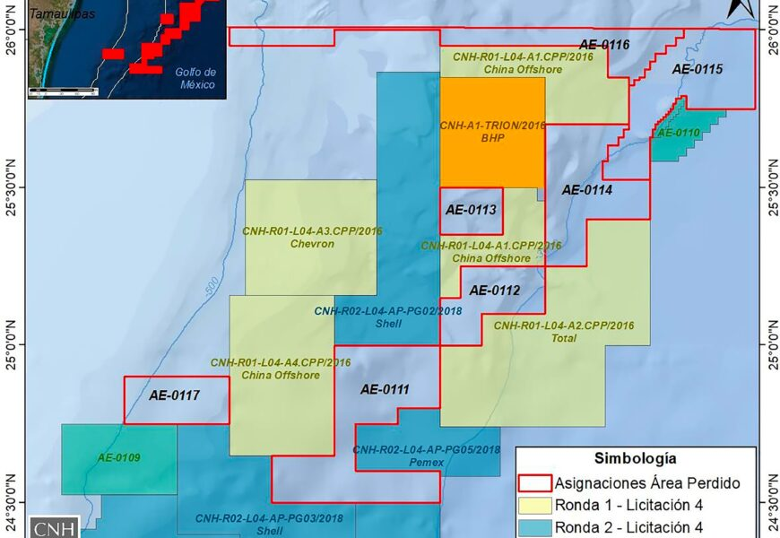 CNH mapa de asignaciones en Área Perdido