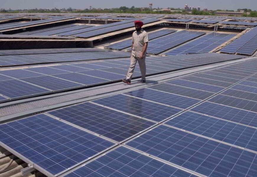 Planta solar en India.