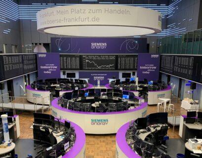 Siemens cotiza en la bolsa de Frankfurt