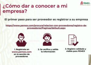 Registro de proveeduría en Pemex.