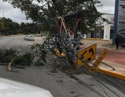 CFE restablece 90% del suministro eléctrico afectado por huracán