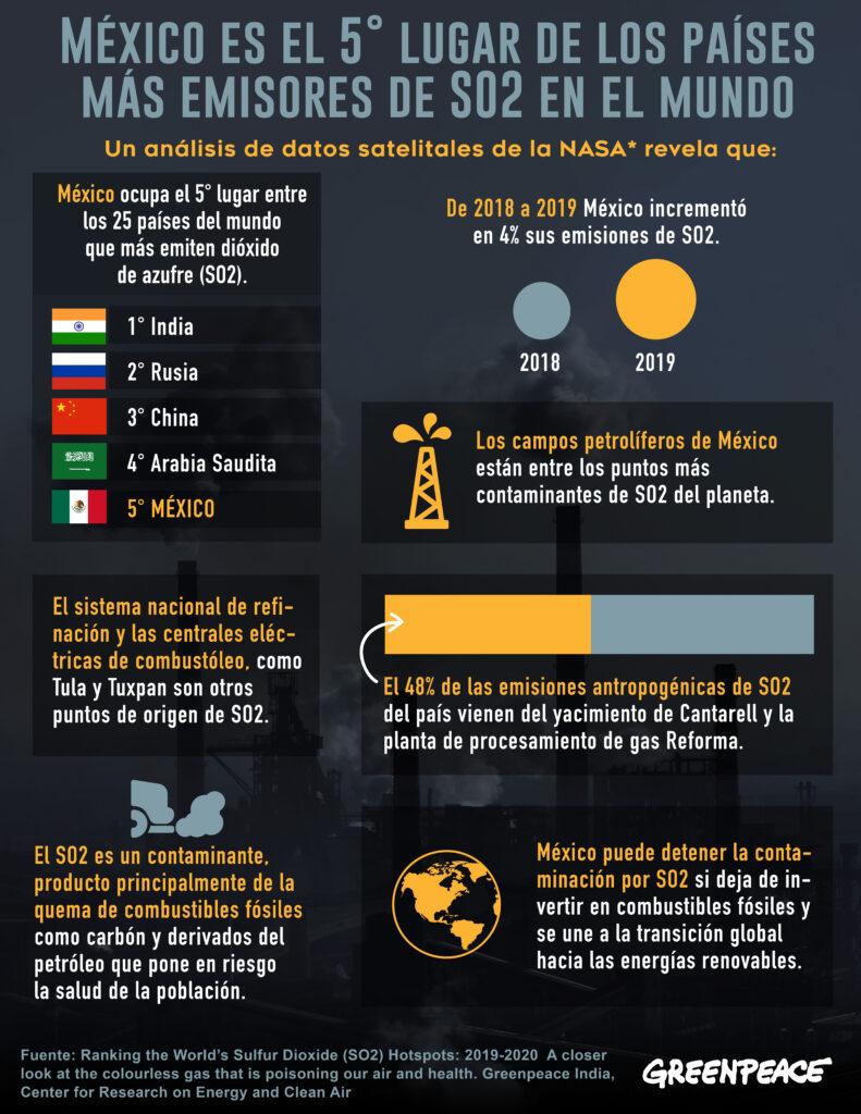 En la imagen, infografía elaborada por Greenpeace.