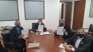 Firma de convenio entre Sedeco CDMX y Procnie por México.